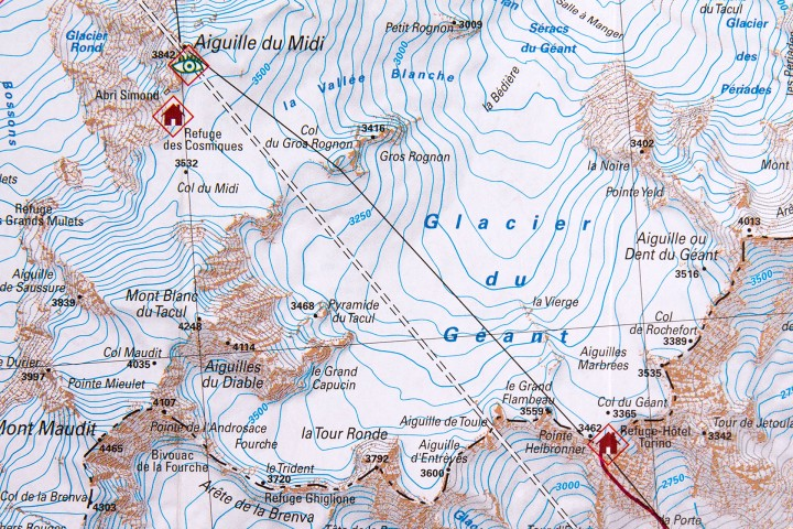 Kaart-Mont-Blanc